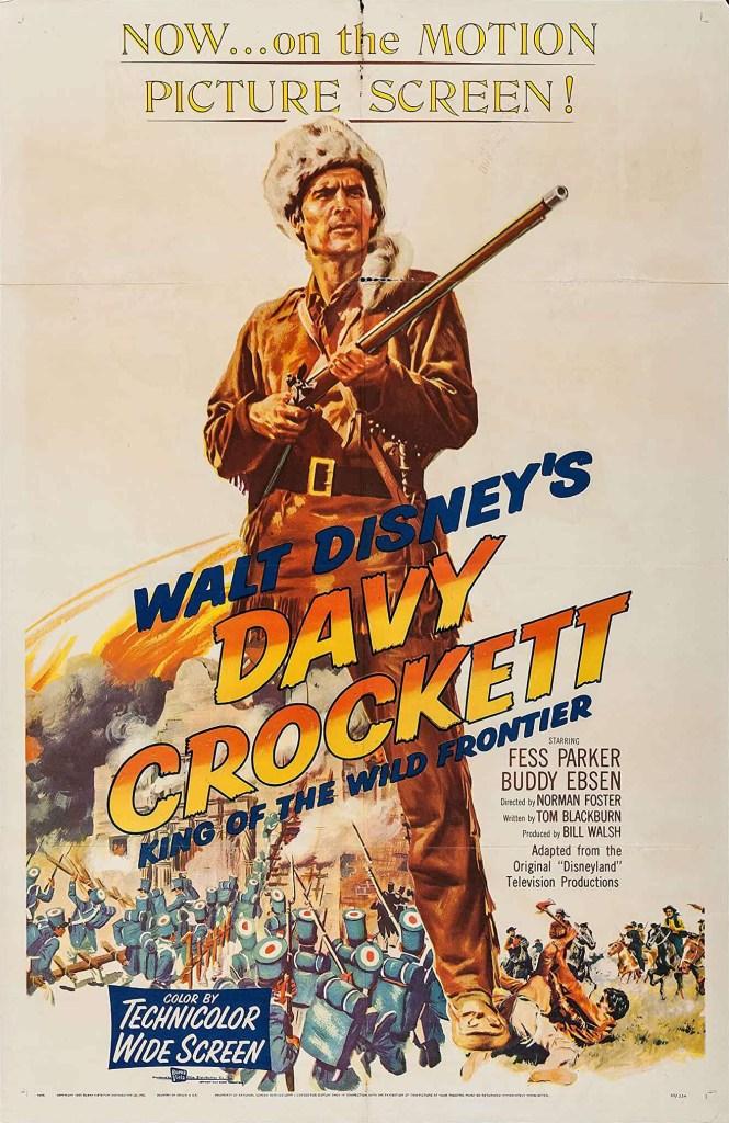 Filmaffisch för Davy Crockett: King of the Wild Frontier. ©Buena Vista/Disney