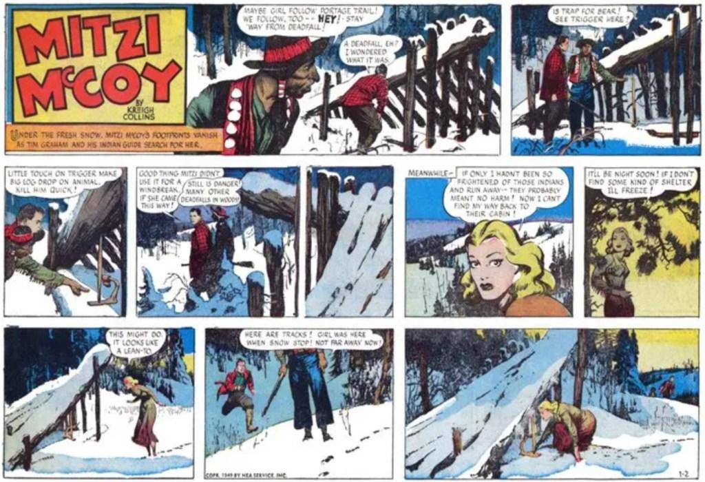 Söndagsserien från 2 januari 1949. ©NEA/Picture This Press