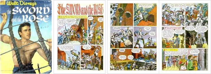 Omslag och inledande sidor ur Four Color Comic #505. ©Dell/Disney