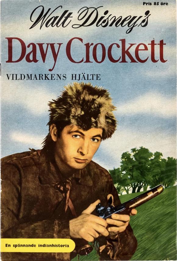 Omslag till Walt Disney's Davy Crockett. ©Richters/Disney