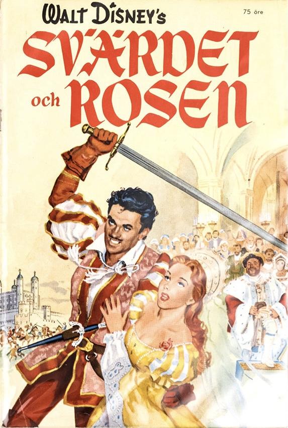 Omslag till Walt Disney's Svärdet och Rosen. ©Richters/Disney