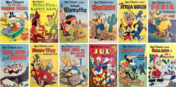 År 1954 utkom tolv nummer med Walt Disney's serier. ©Richters/Disney