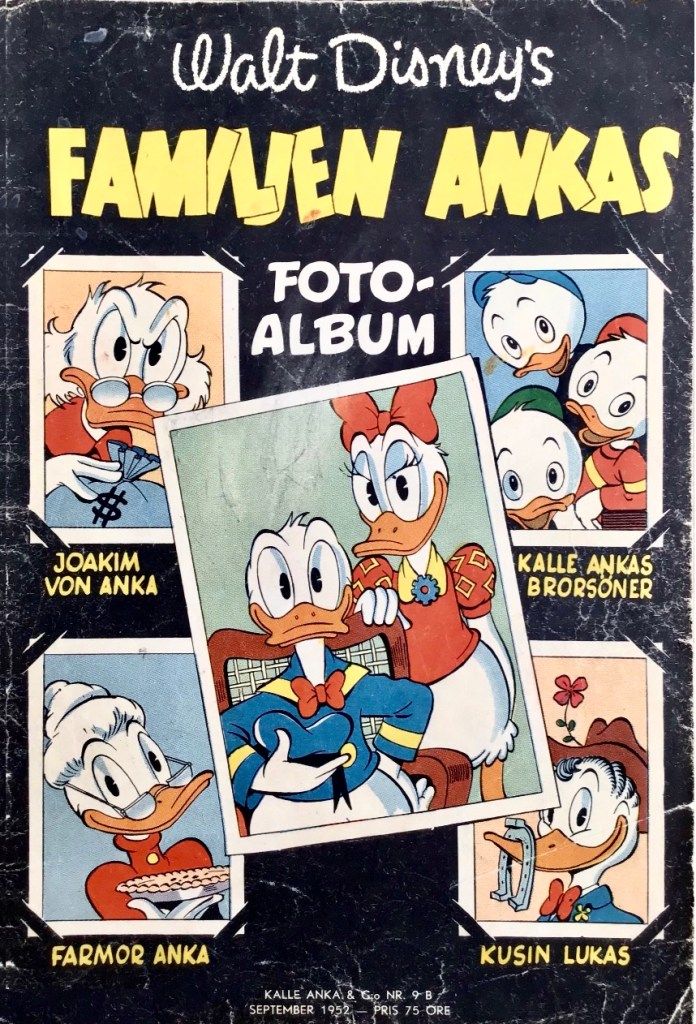 Omslag till Kalle Anka & C:o nr 9B, 1952. ©Richters/Disney