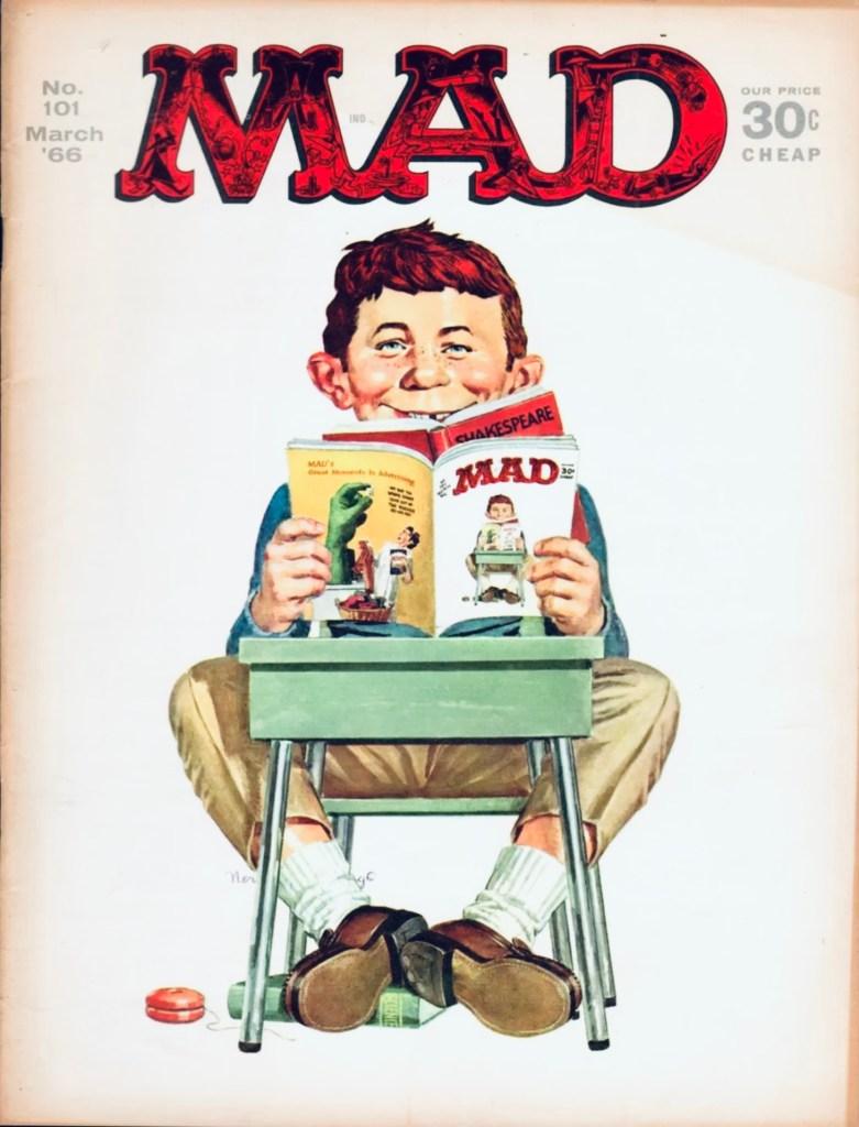 Omslag till MAD #101 (mars 1966). ©EC
