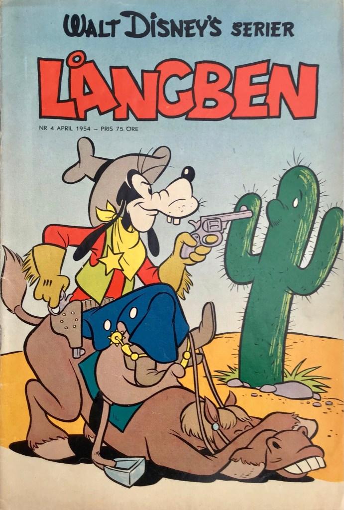 Omslag till Walt Disney's serier nr 4, 1954. ©Richters/Disney