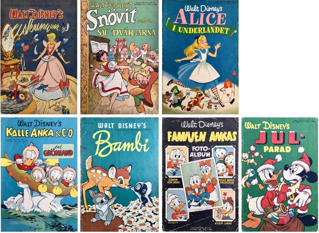 B-nummer av Kalle Anka & C:o 1950-52. ©Richters/Disney