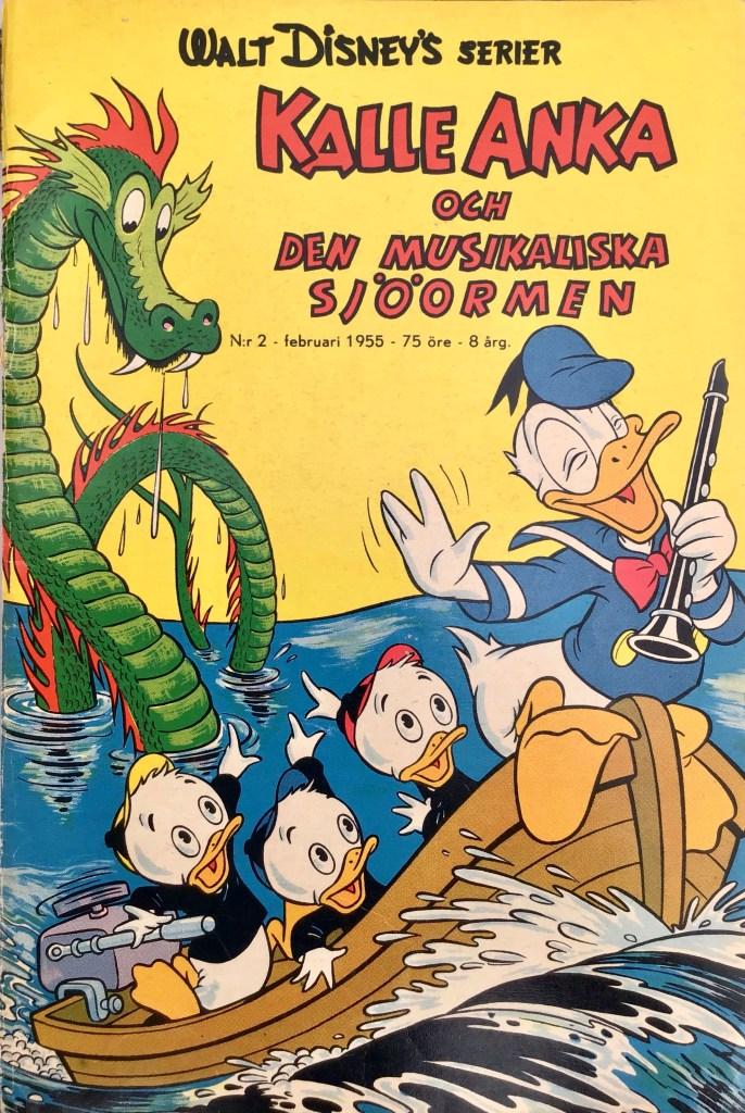 Omslag till Walt Disney's serier nr 2, 1955. ©Richters/Disney