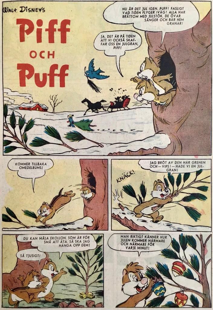 Inledande sida ur Piff och Puff. ©Disney