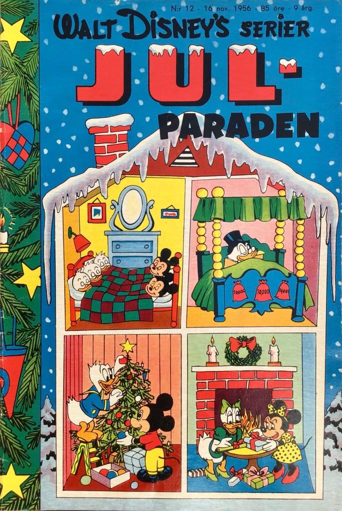 Omslag till Walt Disney's serier nr 12, 1956. ©Richters/Disney