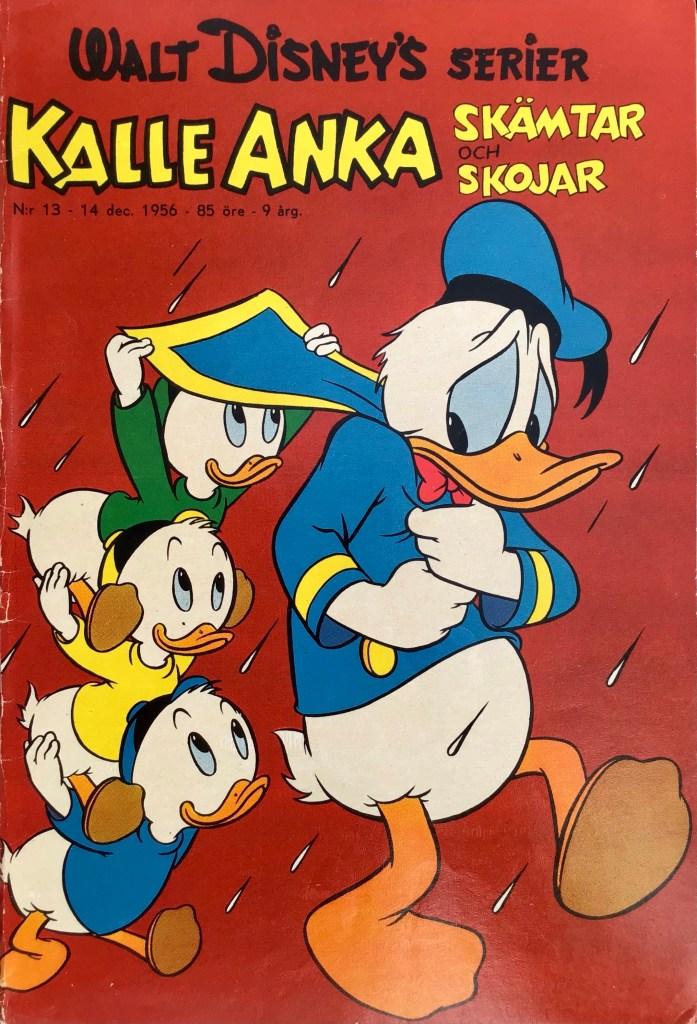 Omslag till Walt Disney's serier nr 13, 1956. ©Richters/Disney