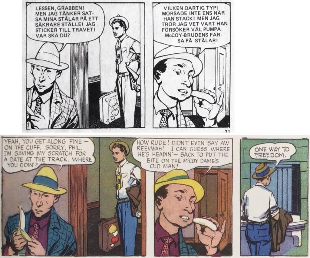 Mitzi McCoy i Seriemagasinet är redigerad för att passa serietidningsformatet. ©NEA