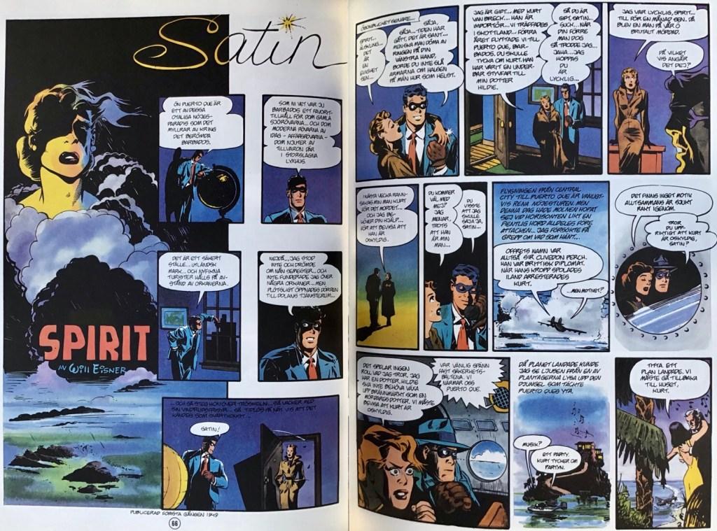 Inledande uppslag ur episoden Satin ur Spirit 4. ©Eisner