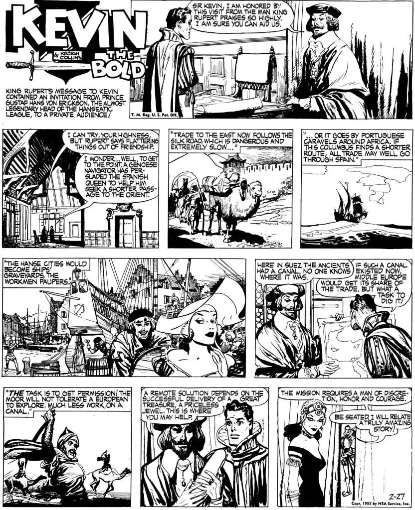 Inledande söndagssida från 27 februari 1955. ©NEA