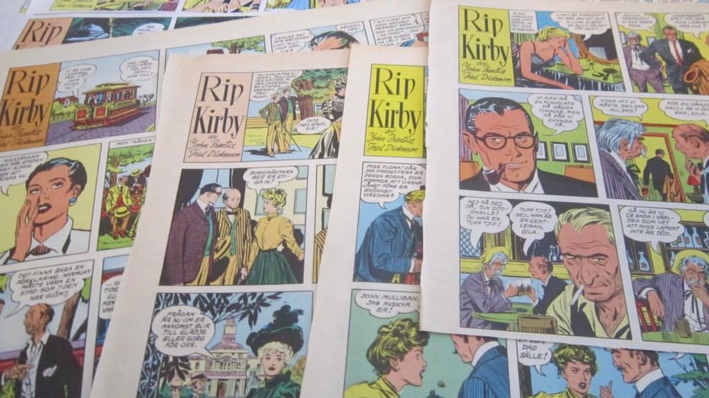 Rip Kirby blev publicerad i Allers Familjejournal. ©Bulls