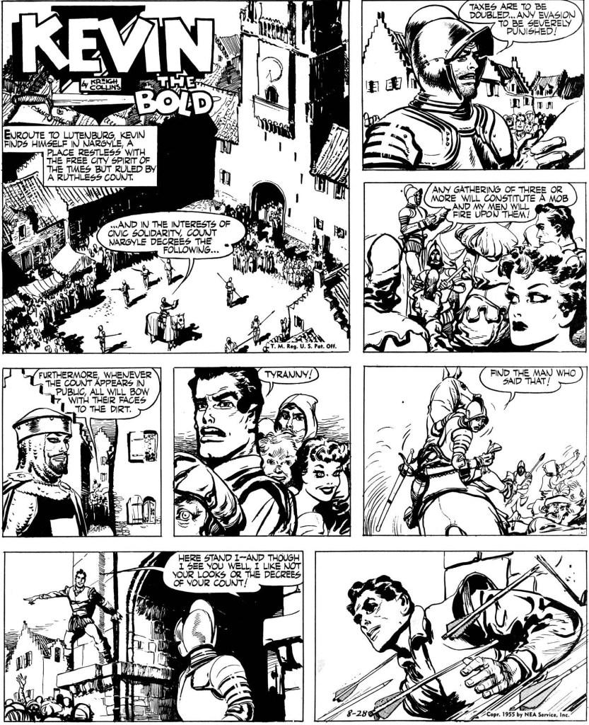 Inledande söndagssida från 28 augusti 1955. ©NEA