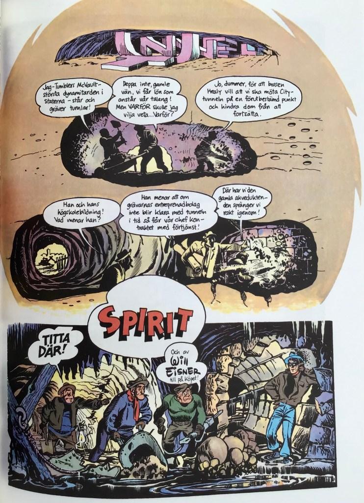 Inledande sida ur Spirit 3, ur episoden Tunneln. ©Eisner
