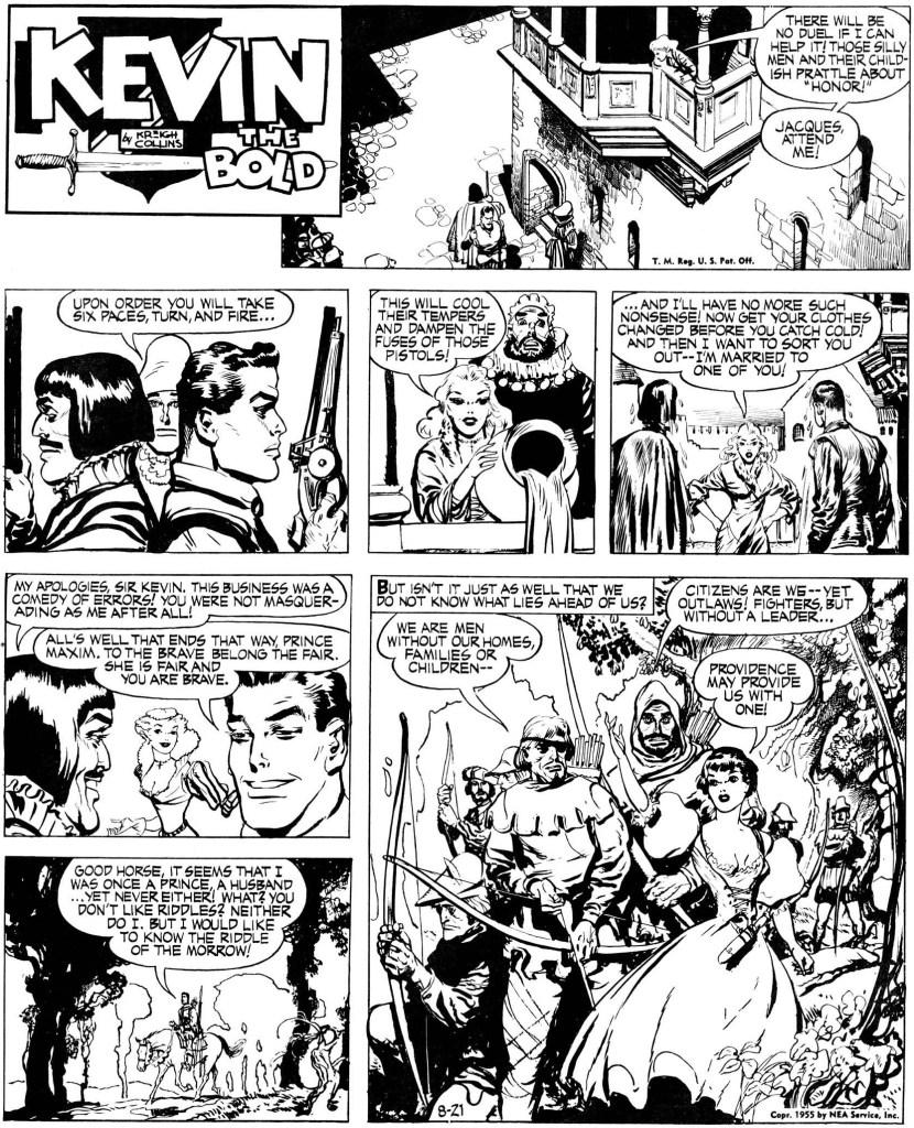 Söndagssidan från 21 augusti 1955. ©NEA