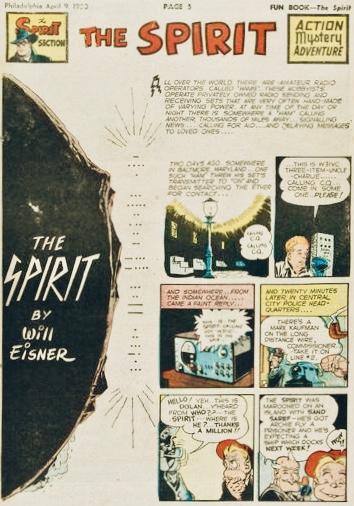 Inledande sida i original, från 9 april 1950. ©Register&Tribune