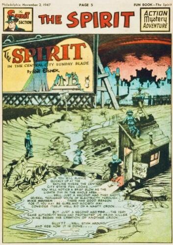 Inledande sida i original, från 2 november 1947. ©Register&Tribune