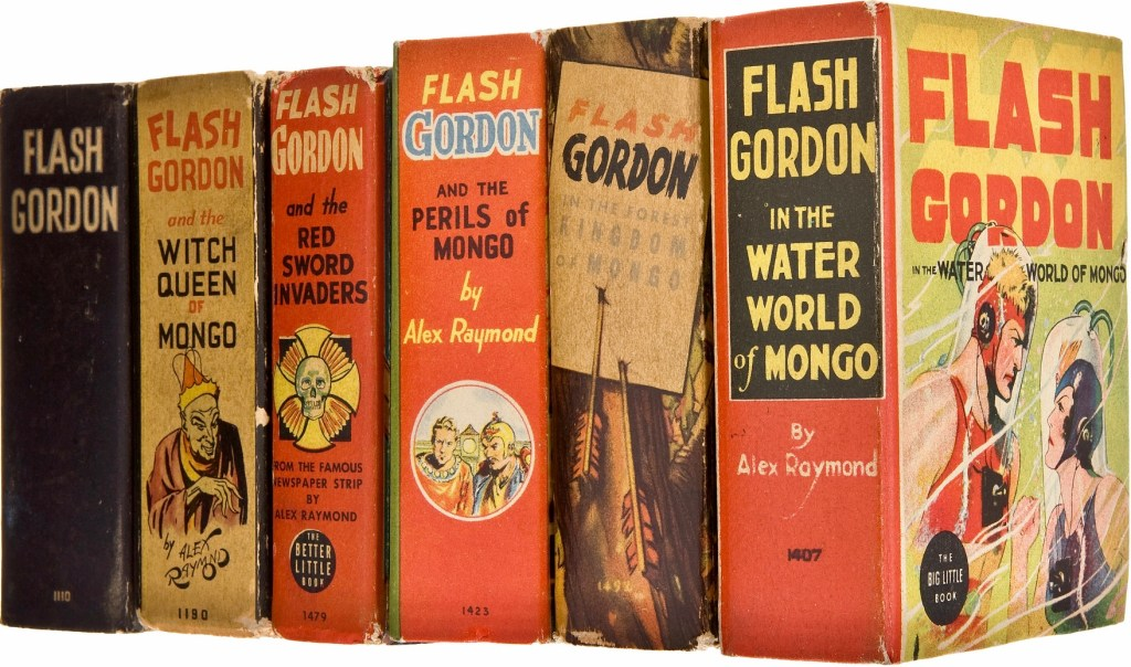Flash Gordon utkom som Big Little Books, i ett flertal utgåvor (1934-48). ©Whitman