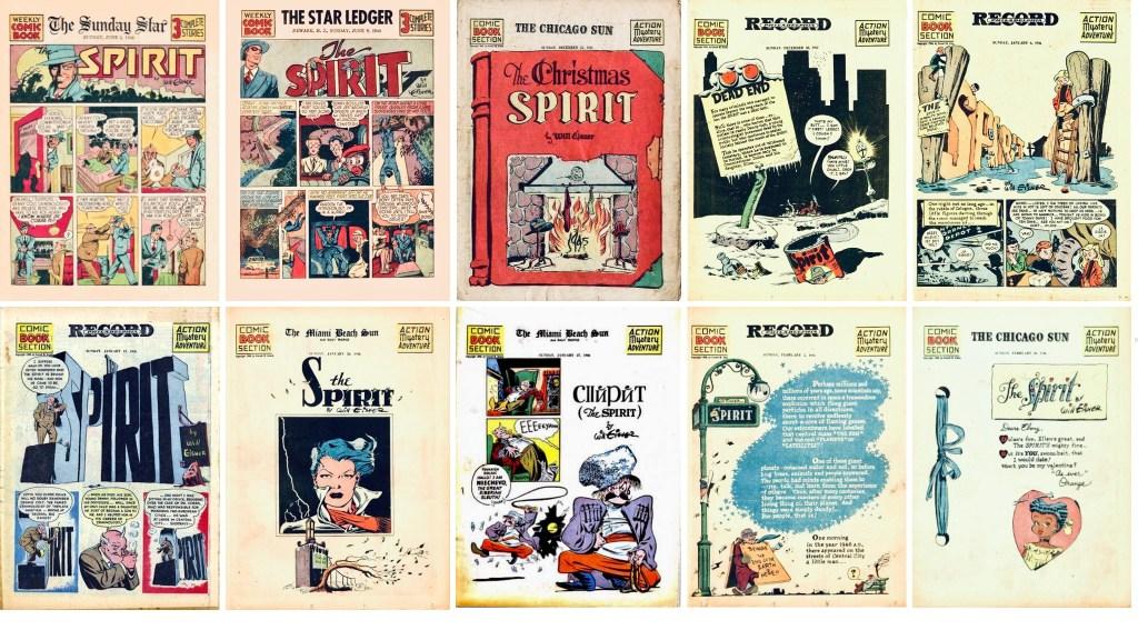 Inledande titelsida till Spirit Section #1-2 och #291-298. ©Register&Tribune