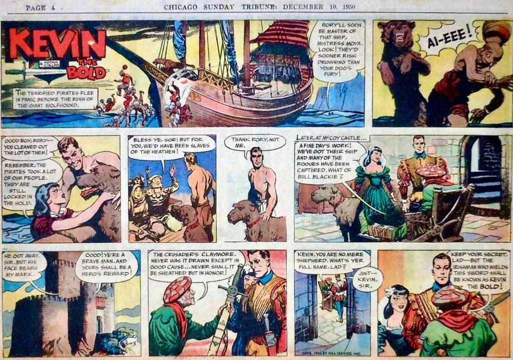 Söndagsserien i original från 10 december 1950. ©NEA