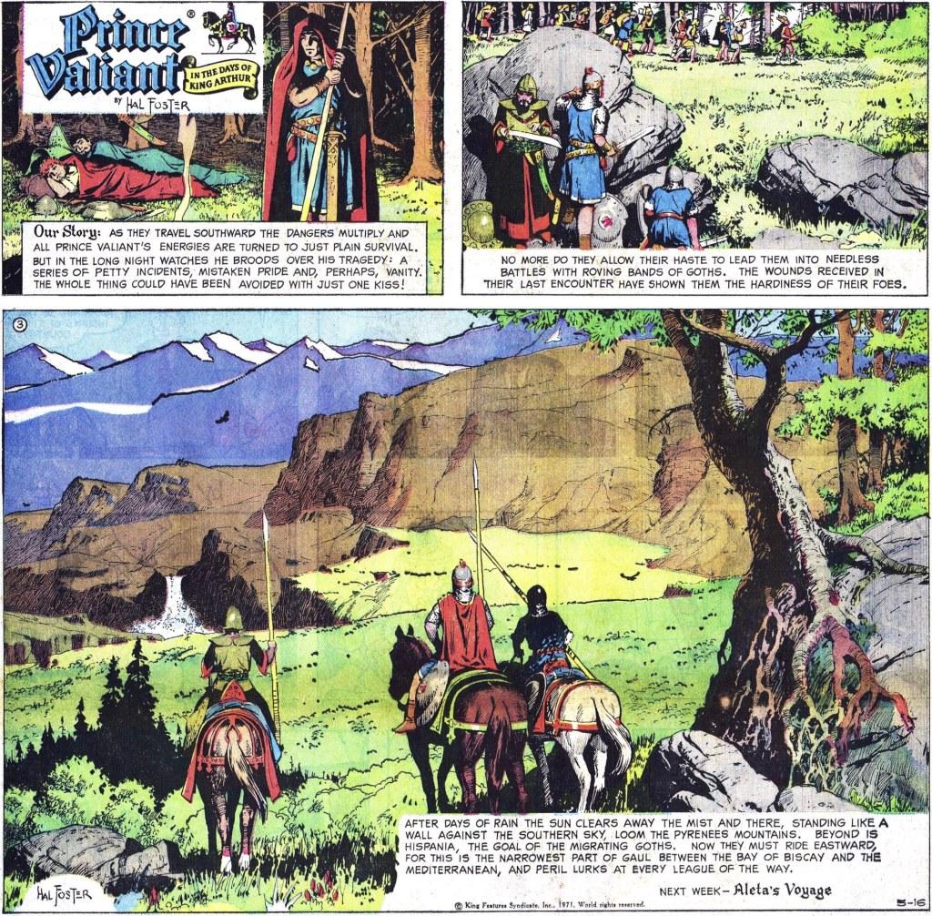 Sista söndagssidan (med undantag av #2000) tecknad av Foster från 16 maj 1971. ©KFS