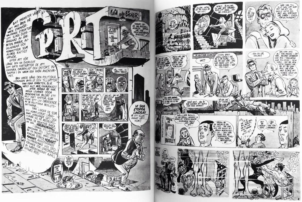 Inledande uppslag ur episoden Spirit (1966). ©Eisner