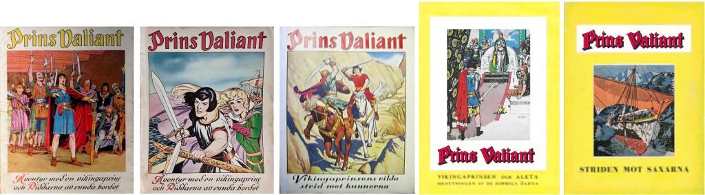 Omslag till Prins Valiant julalbum på 40-talet, ©Å&Å/Allers