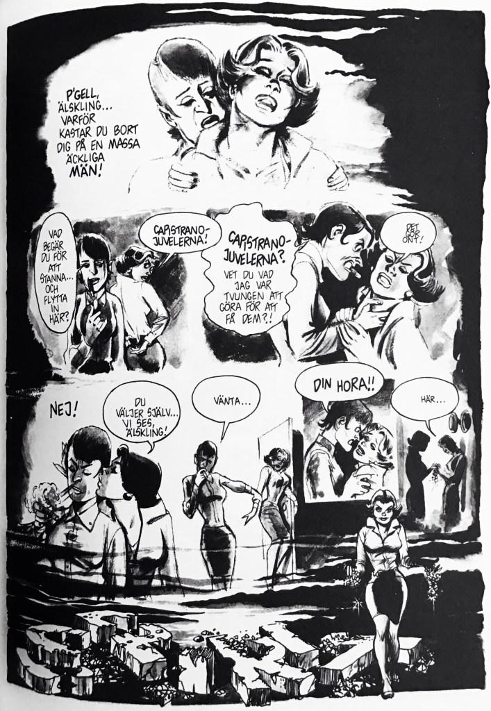 Inledande sida ur episoden Capistrano-juvelerna i Spirit 6. ©Eisner