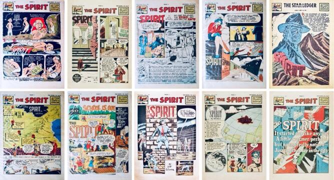 Inledande titelsida till Spirit Section #569-571, #573, #576-581. ©Register&Tribune