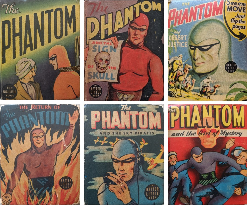 Omslag till Big (och Better) Little Books med The Phantom. ©Whitman