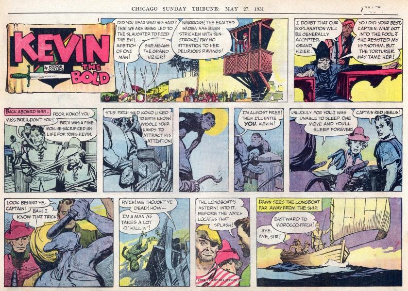 Söndagsserien i original (halvsida) från 27 maj 1951. ©NEA