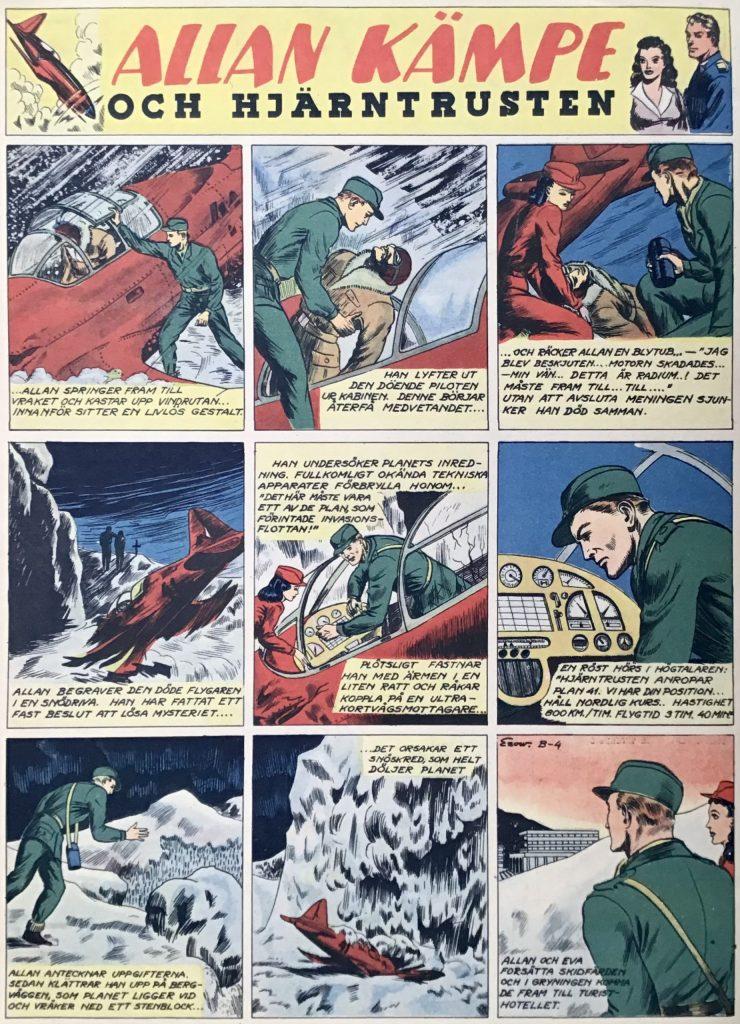 Veckoserien med Allan Kämpe i Veckans Serier, avsnitt B-4. ©Bulls