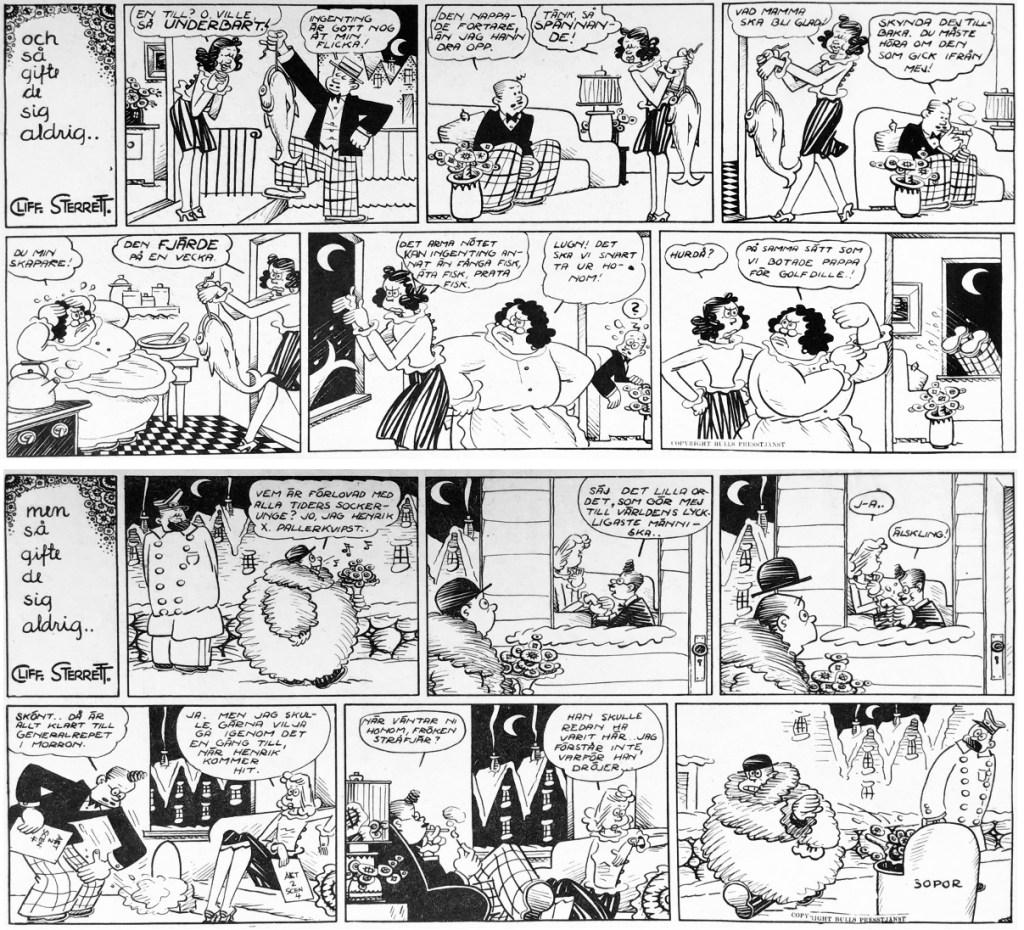 Romeo och Julia ur Veckans serier nr 14 och 15, 1943. ©Bulls