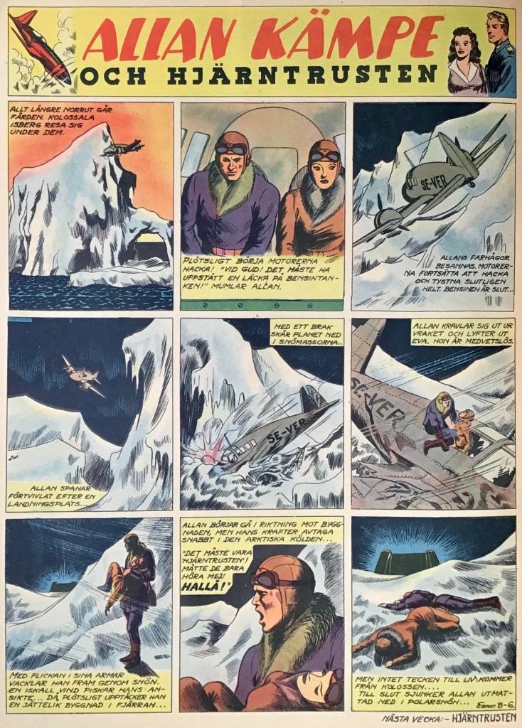 Veckoserien med Allan Kämpe i Veckans Serier, avsnitt B-6. ©Bulls