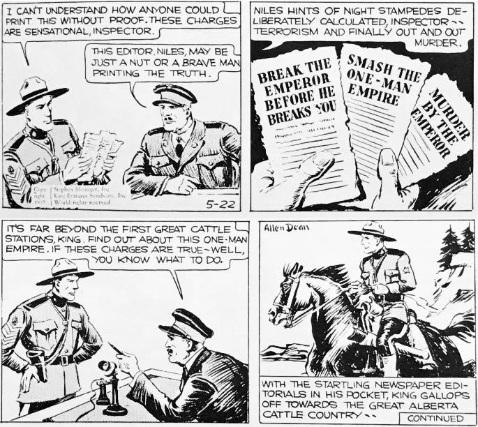 En dagsstripp från 22 maj 1937 tecknad av Allen Dean. ©KFS