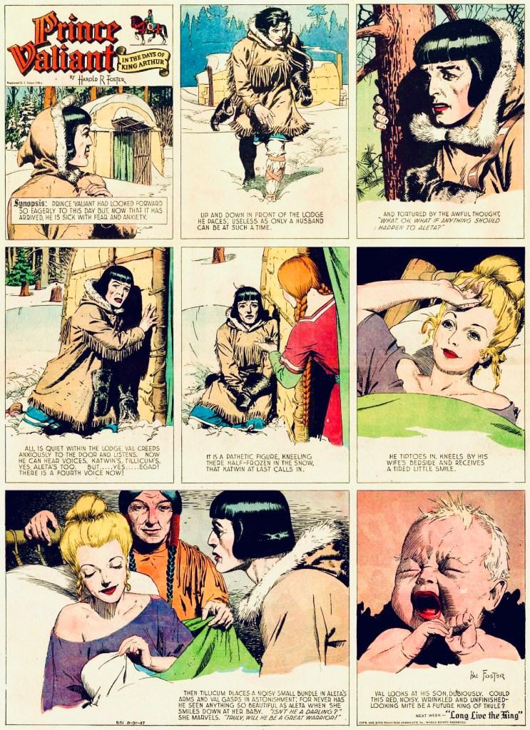 Söndagssidan i original från 31 augusti 1947. ©KFS