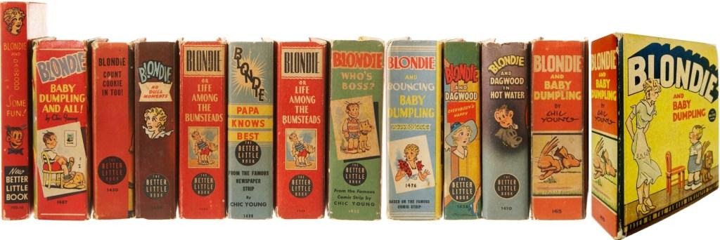 Några Big Little Books med Blondie (1937-49). ©Whitman