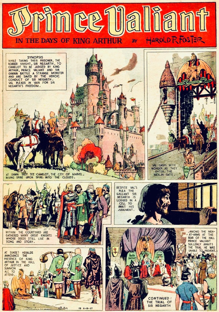 Seriesida #19 från lördag 19 juni 1937. ©KFS