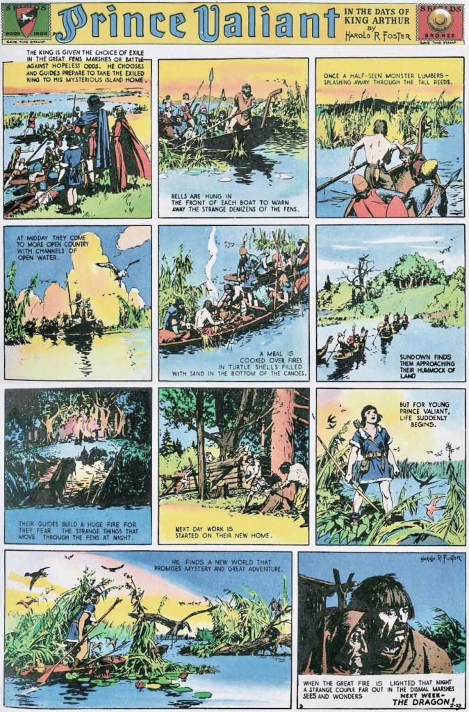 Seriesida #3 från lördag 27 februari 1937. ©KFS