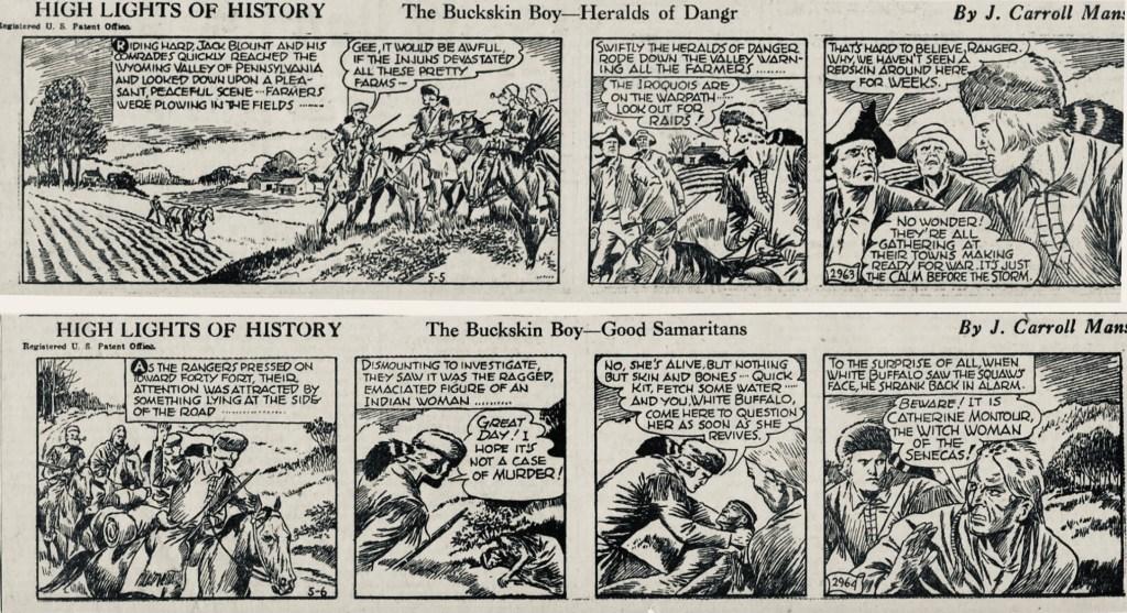 Motsvarande dagsstrippar i original från 5-6 maj 1939.