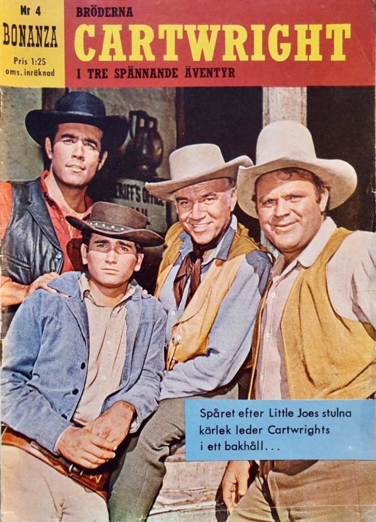 Omslag till fjärde numret av Bonanza (1962).