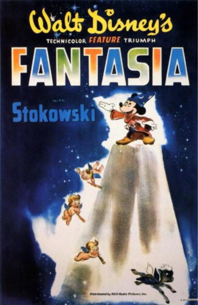 Filmaffisch till den animerade långfilmen Fantasia (1940). ©Disney