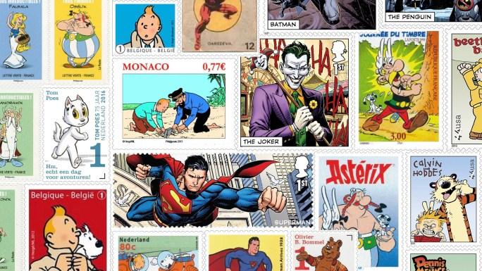 Seriefigurer som frimärken