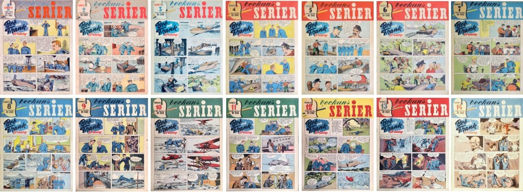 Det utkom fjorton nummer av Veckans serier år 1942. ©Alga