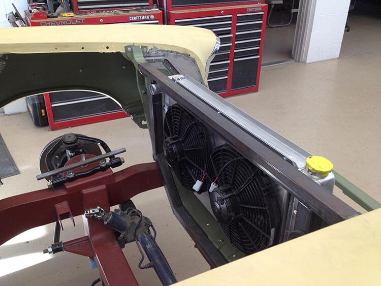 57 Chevy Belair radiator frame