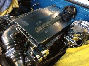 1967 Chevy Camaro engine panel