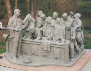 """""""Gentlemen of the Jury..."""" (shown in clay)"""