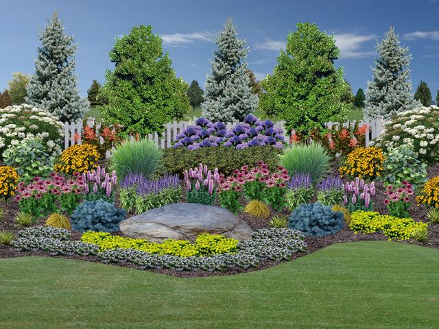 Landscape Design - Rogers Spring Hill Garden Center on Backyard Lawn Designs  id=30401